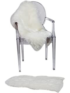 RUGLUSH Super Soft Sheepskin Chair Cover Seat Cushion Padu2013 Excellent  Quality Faux Fur Rug U2013
