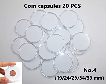 COIN CAPSULES   41 mm pkg of 5 #1 AMERICAN SILVER EAGLE