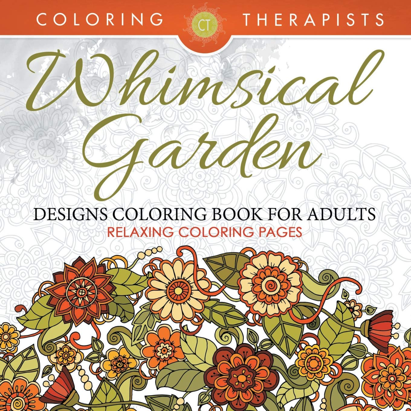 Amazon.com: Whimsical Garden Designs Coloring Book For Adults ...