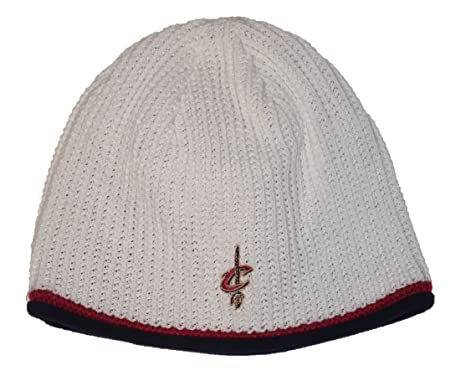 abedf0fa94a Image Unavailable. Image not available for. Color  adidas Cleveland  Cavaliers NBA White Waffle Knit Beanie Hat