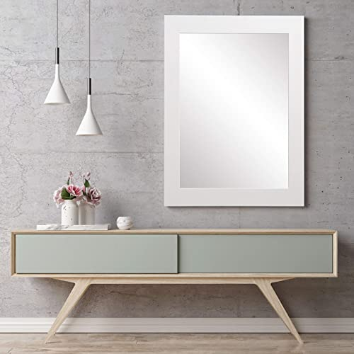 BrandtWorks Wall Mirror, 32 x 50 , Pure White