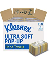 Kleenex Hand Towels , Ultra Soft and Absorbent, Pop-Up Box, 18 Boxes / Case, 70 Paper Hand Towels / Box, 1,260 Sheets / Case