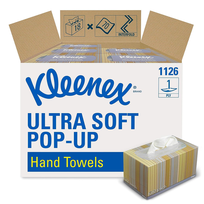 Kleenex 1126 Ultra Soft Essuie Mains Enchev/êtr/és Pop Up 18 Bo/îtes de 70 Formats 1 Pli Blanc