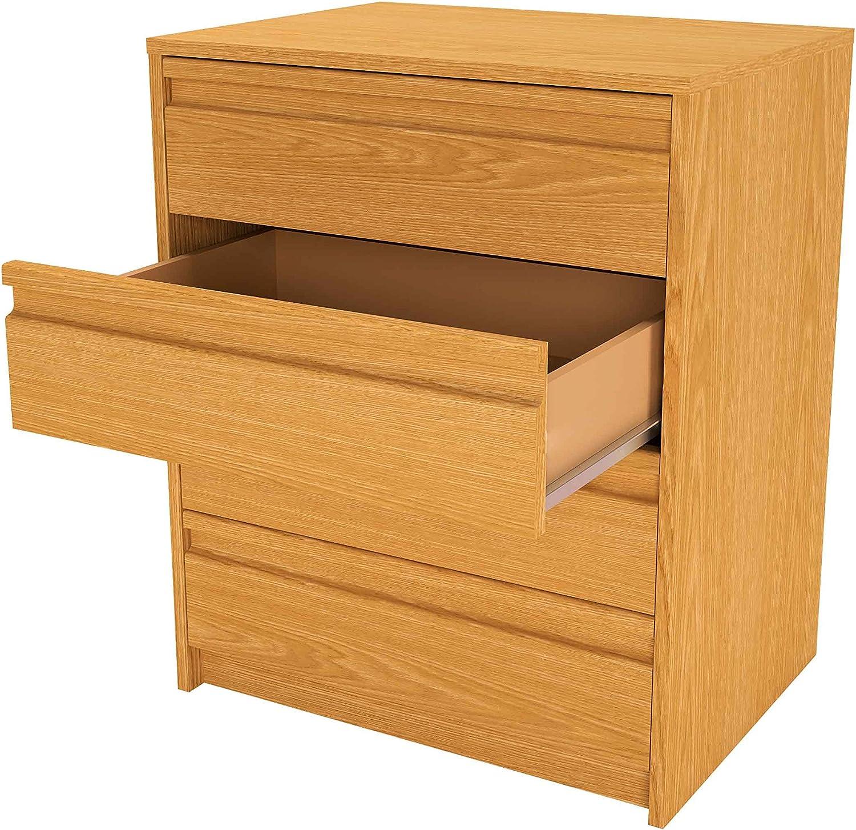 45x50x73 cm Holz Samblo Kai Schublade Eiche