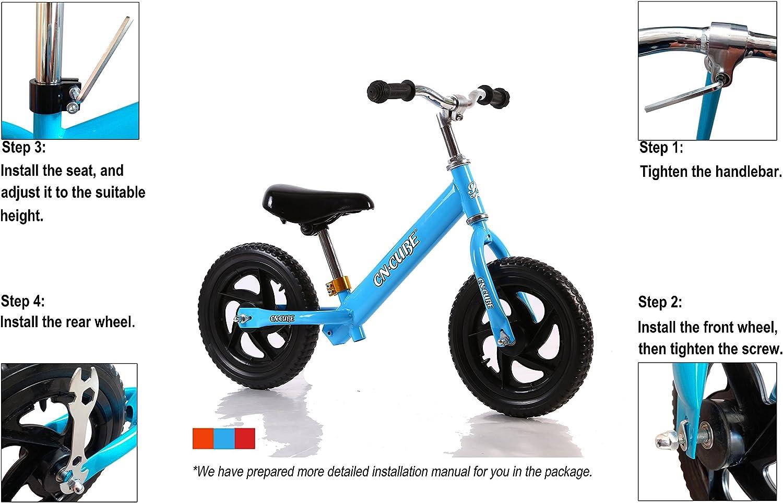 CN CUBE - Bicicleta de Equilibrio sin Pedal: Amazon.es: Deportes y ...