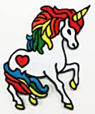 Cute Unicorn Cartoon DIY Applique Embroidered Sew Iron on Patch p#30