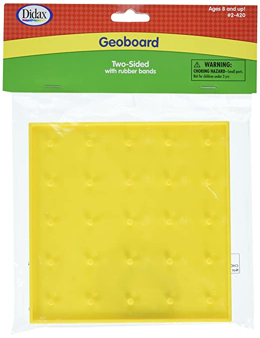 Amazon.com: Didax Educational Resources Two Sided Geoboard, 6 ...