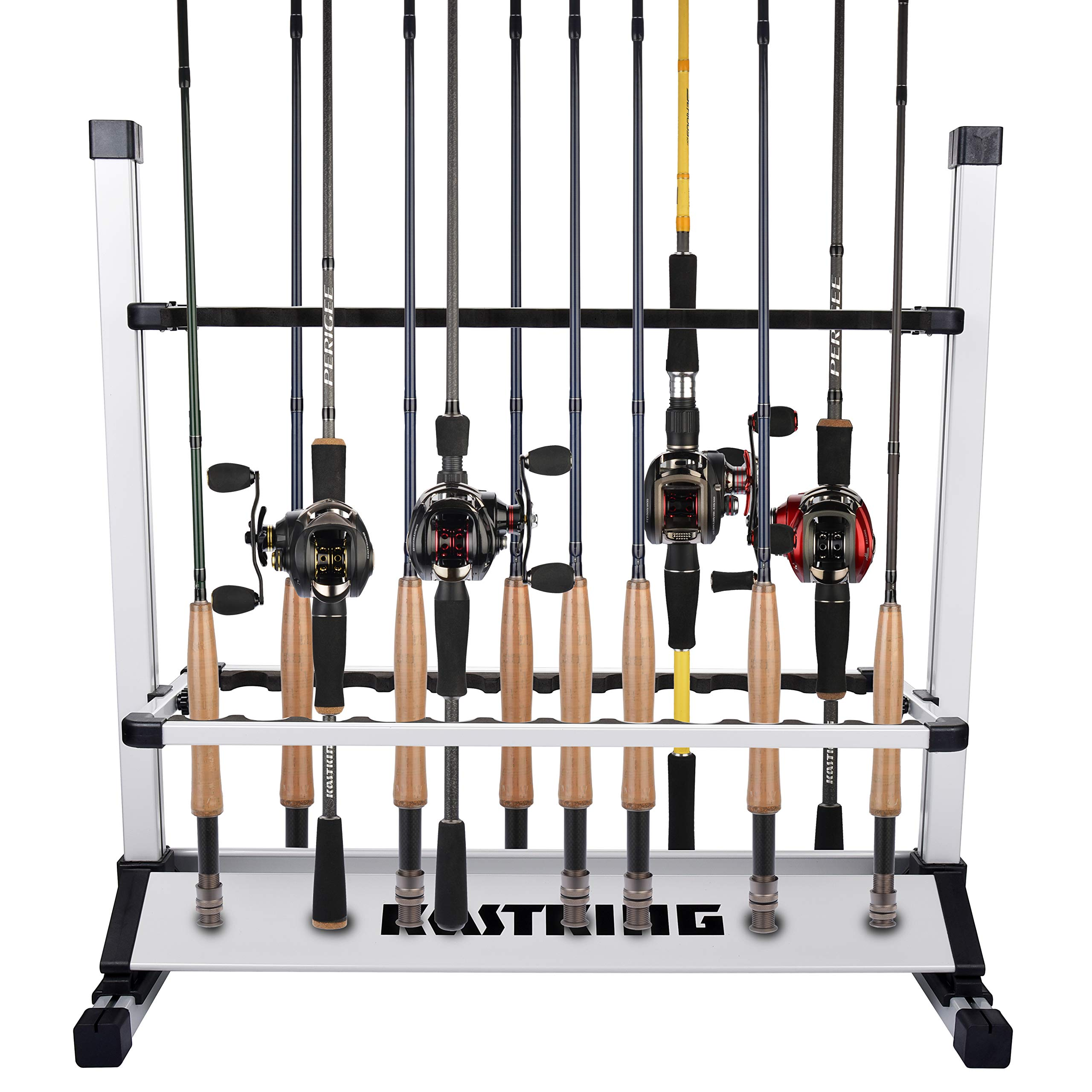 KastKing Fishing Rod Holder, 24 Rods Rack Silver Black by KastKing (Image #2)