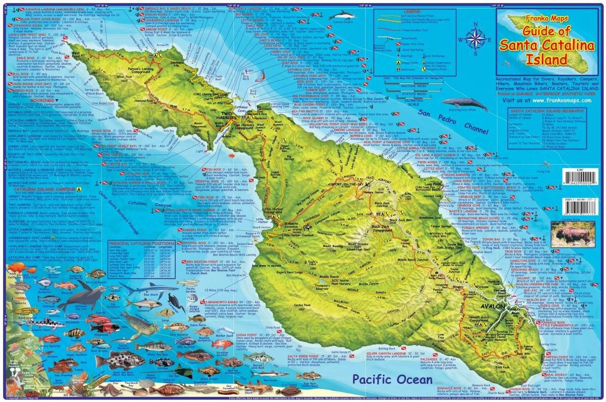 Santa Catalina Island California Adventure  Dive Guide Franko - Map us 81