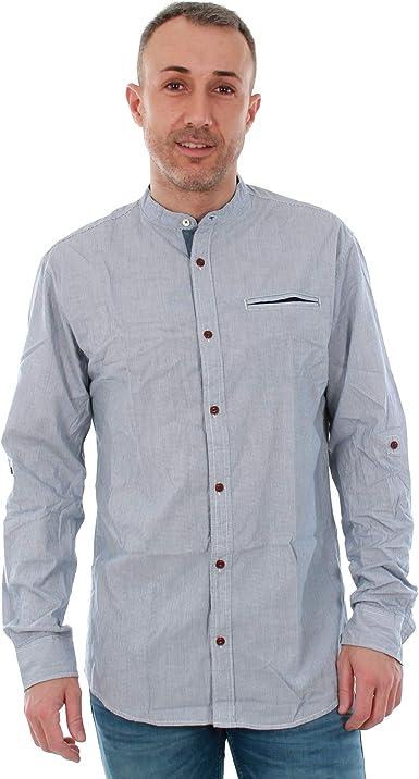 Camisa Jack&Jones Hombre M Azul 12139428 JORNORDLUND Shirt LS One Pocket Indigo Slim Mao: Amazon.es: Ropa y accesorios