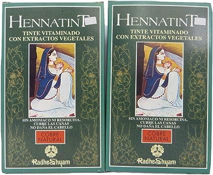 Natural Pelo De Cobre unidades: 2 hennatint cartucho de ...