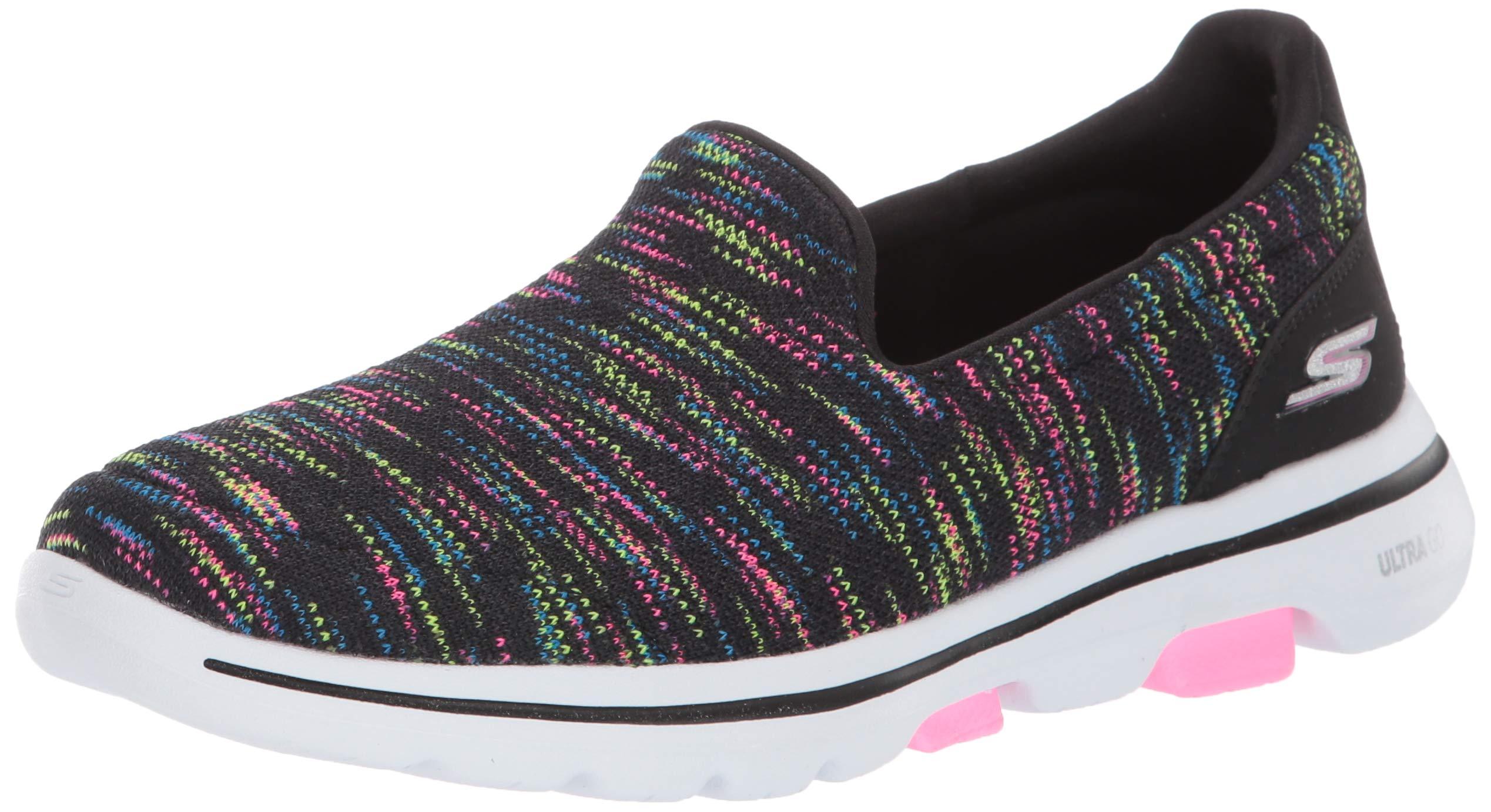 Skechers Women's GO Walk 5-15912 Shoe, Black/Multi, 6.5 M US by Skechers