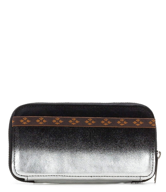 Patricia Nash Oria Wallet Black & Silver Dip Dye