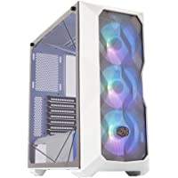 Cooler Master MasterBox TD500 Mesh White Airflow ATX Mid-Tower with Polygonal Mesh Front Panel, Crystalline Tempered…