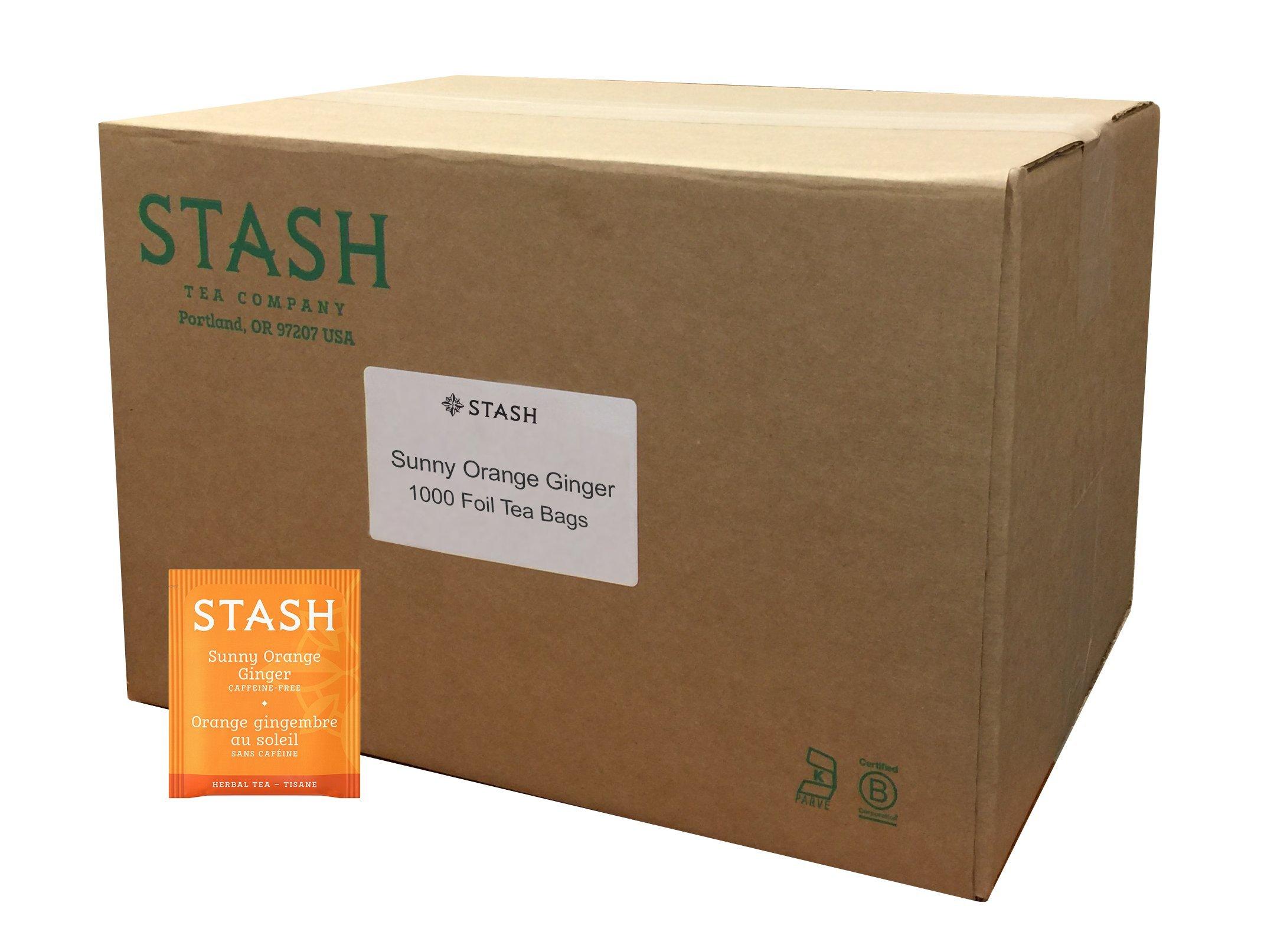 Stash Tea Sunny Orange Ginger Herbal Tea 1000 Count Individual Uncaffeinated Herbal Tea Bags for Use in Teapots Mugs or Cups, Brew Hot Tea or Iced Tea by Stash Tea (Image #1)