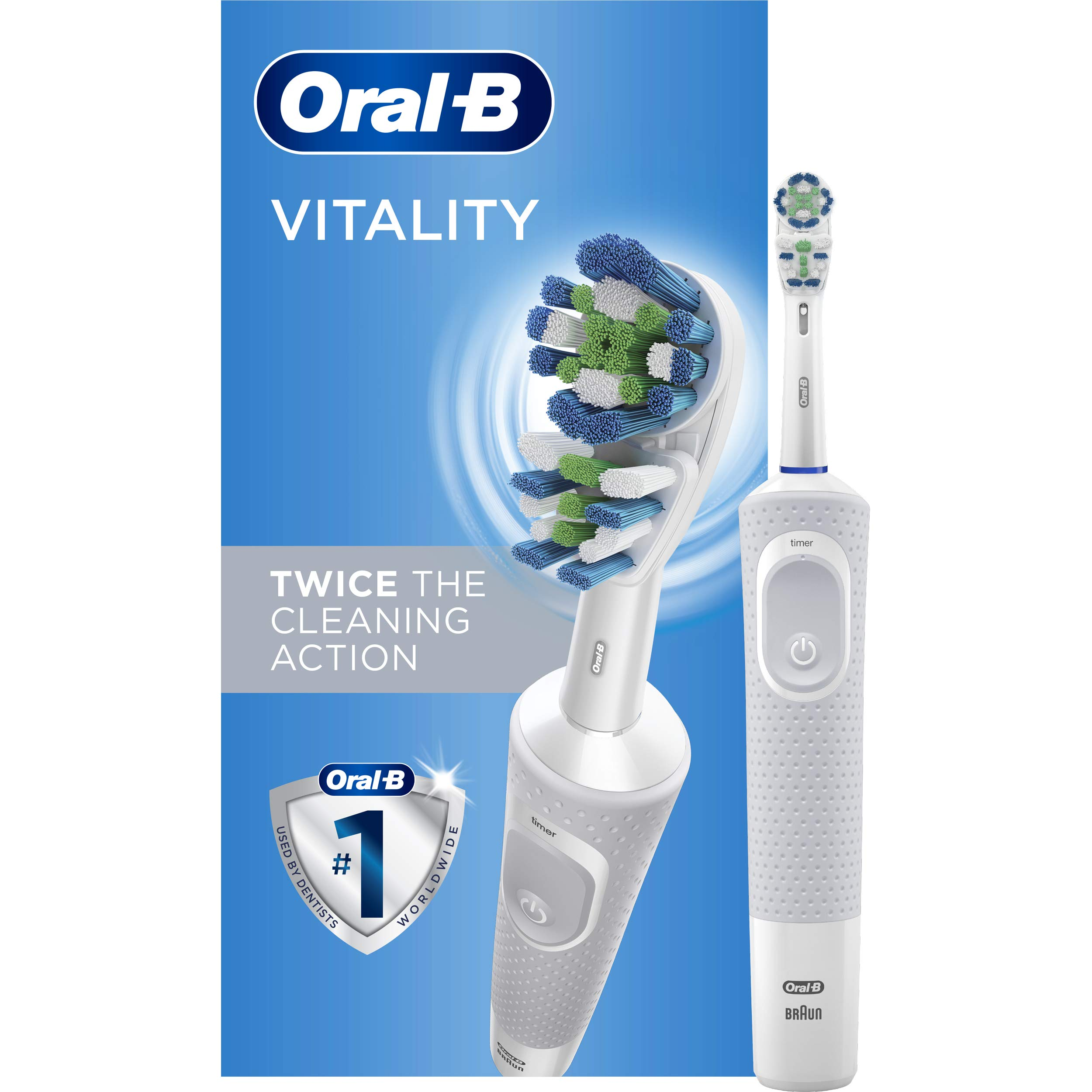 Oral-B Vitality Dual Clean Electric Toothbrush, White