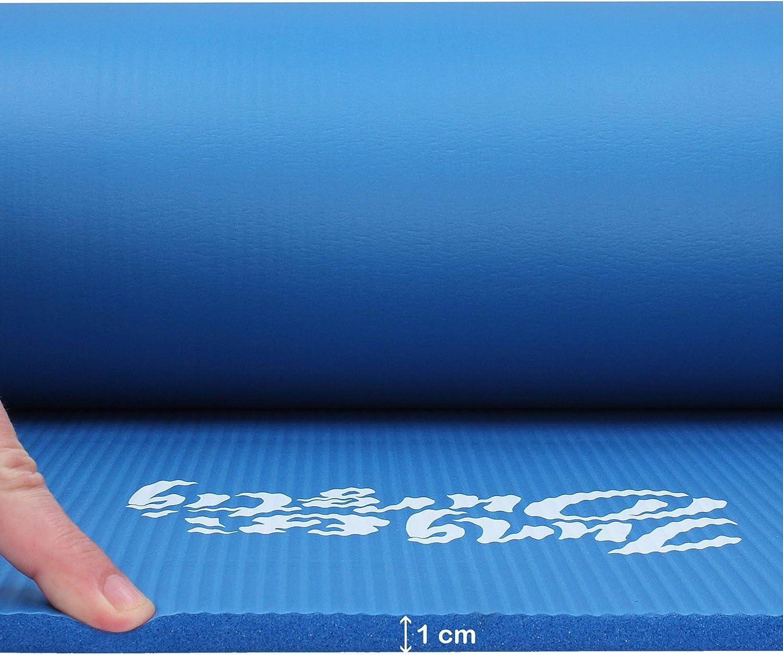Farben Fittnessmatte inklusive Bauch Beine Po Workout als Ebook 180 x 60 cm Sportmatte mit Tragegurt f/ür Zuhause und unterwegs Gymnastikmatte in versch Jung /& Durstig Original Yogamatte