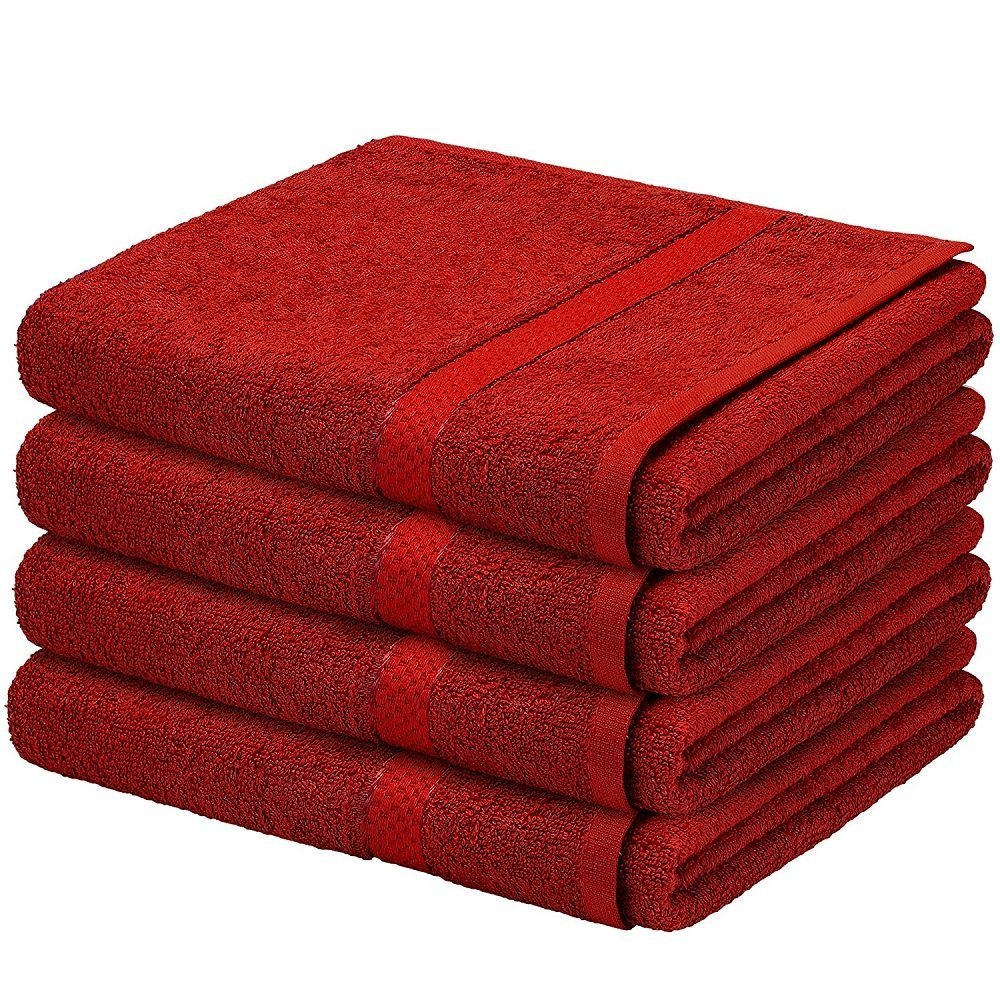Lazzaro luxury 2 pack cotton bath sheet towel shower sheet (Cream)