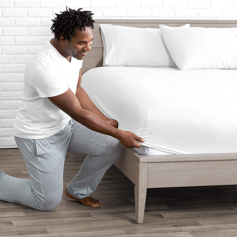 Bare Home Fitted Bottom Sheet Full - Premium 1800 Ultra-Soft Wrinkle Resistant Microfiber - Hypoallergenic - Deep Pocket (Full, White)