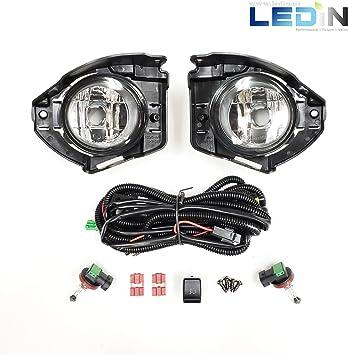 Fit Nissan Juke 14-17 Clear Lens Pair OE Fog Light Lamp+Wiring+Switch Kit DOT