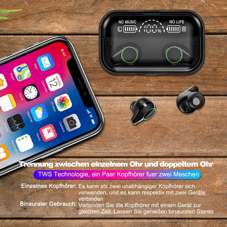 iLEPO TWS Bluetooth Kopfhörer In Ear Ohrhörer Bluetooth 5.0 EDR 3000mAh L