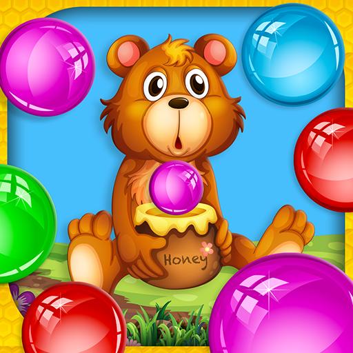 Fuzzy Honey Bear Bubble Blaster