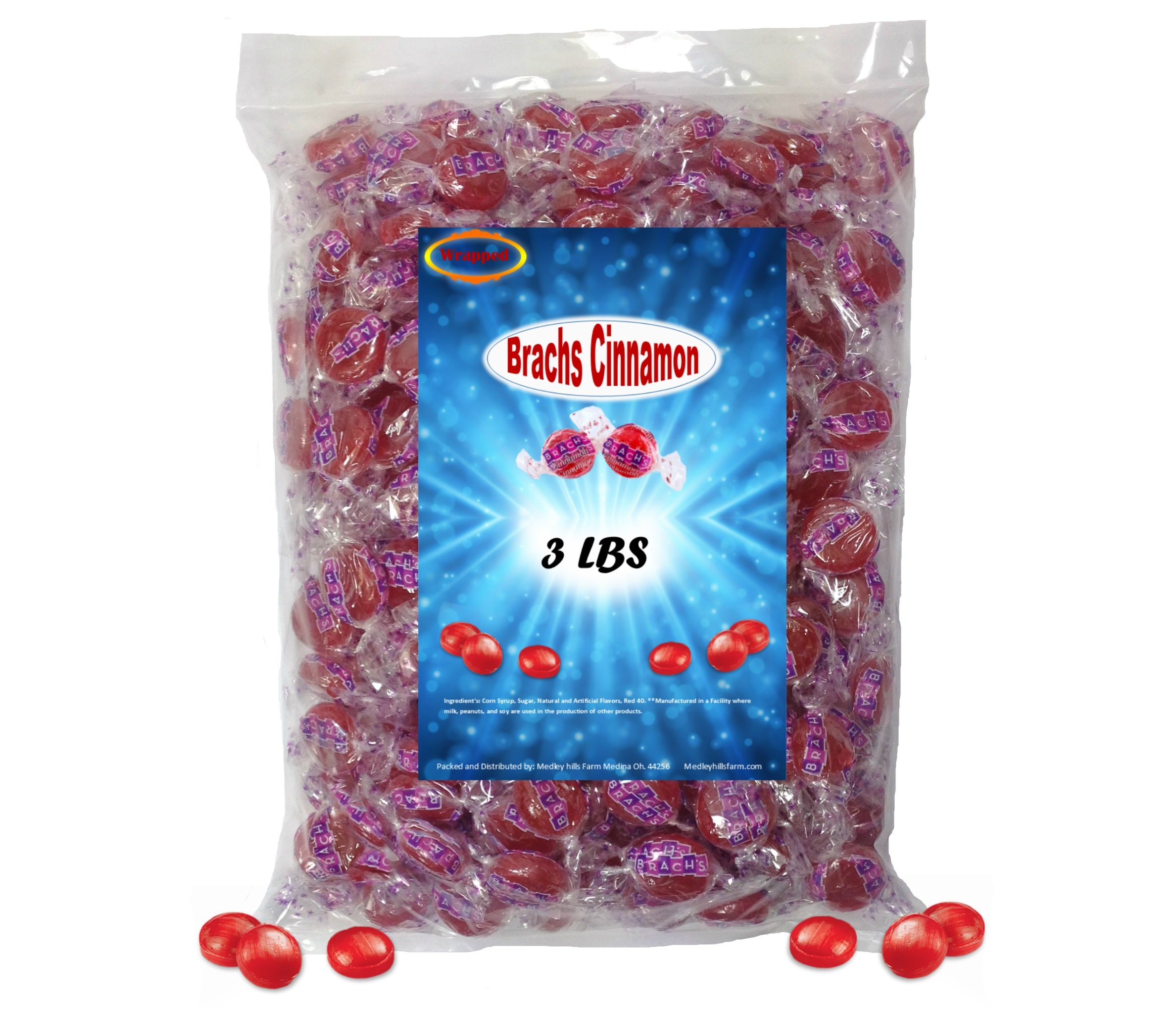 Brach's Cinnamon Hard Candy 3 Pounds