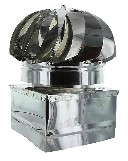 Chimenea Turbo Acero Inoxidable AISI 304 cm. 37 x 37 unidades 1 STK
