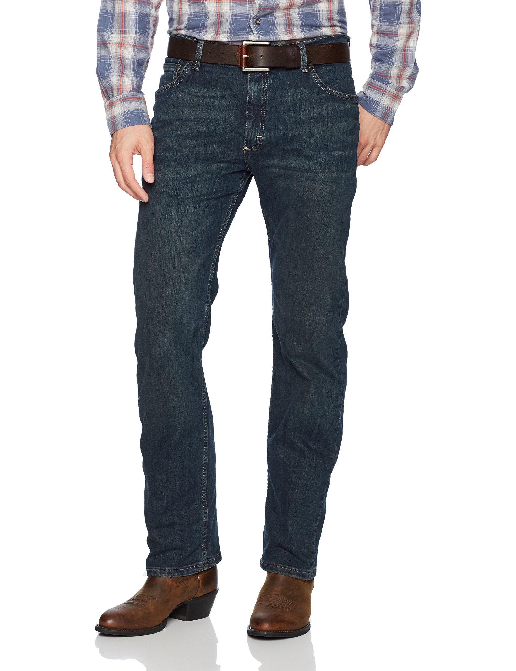 Wrangler Authentics Men's Classic Straight Leg Jean, Homestead Blue Flex, 34 X 30