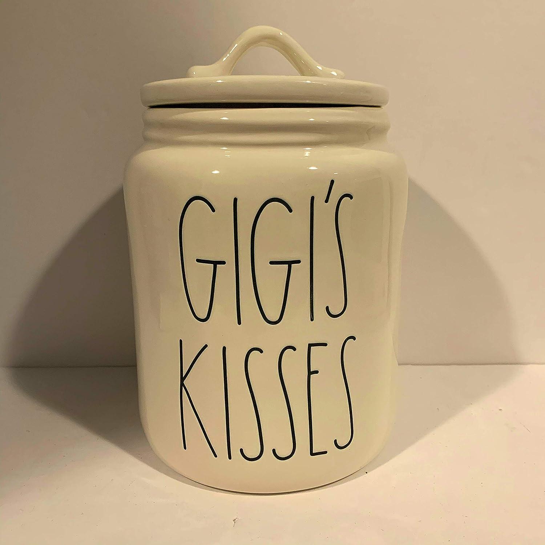 ceramic gift Rae Dunn GIGIS KISSES Canister 8x5.5 MEDIUM