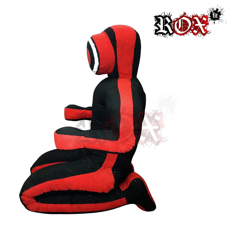posici/ón sentada manos delanteras Cerradura para chupete de yudo realista con brazo y cerradura de agarre para chupete RoxFit negro y rojo