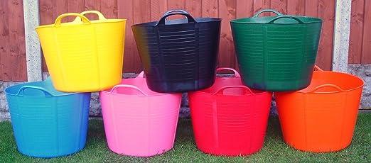 Keto Plastics Pack de 3 – 40 litros de Cubo para jardín/Flexi/Gorilla. (Fabricado en el Reino Unido): Amazon.es: Jardín