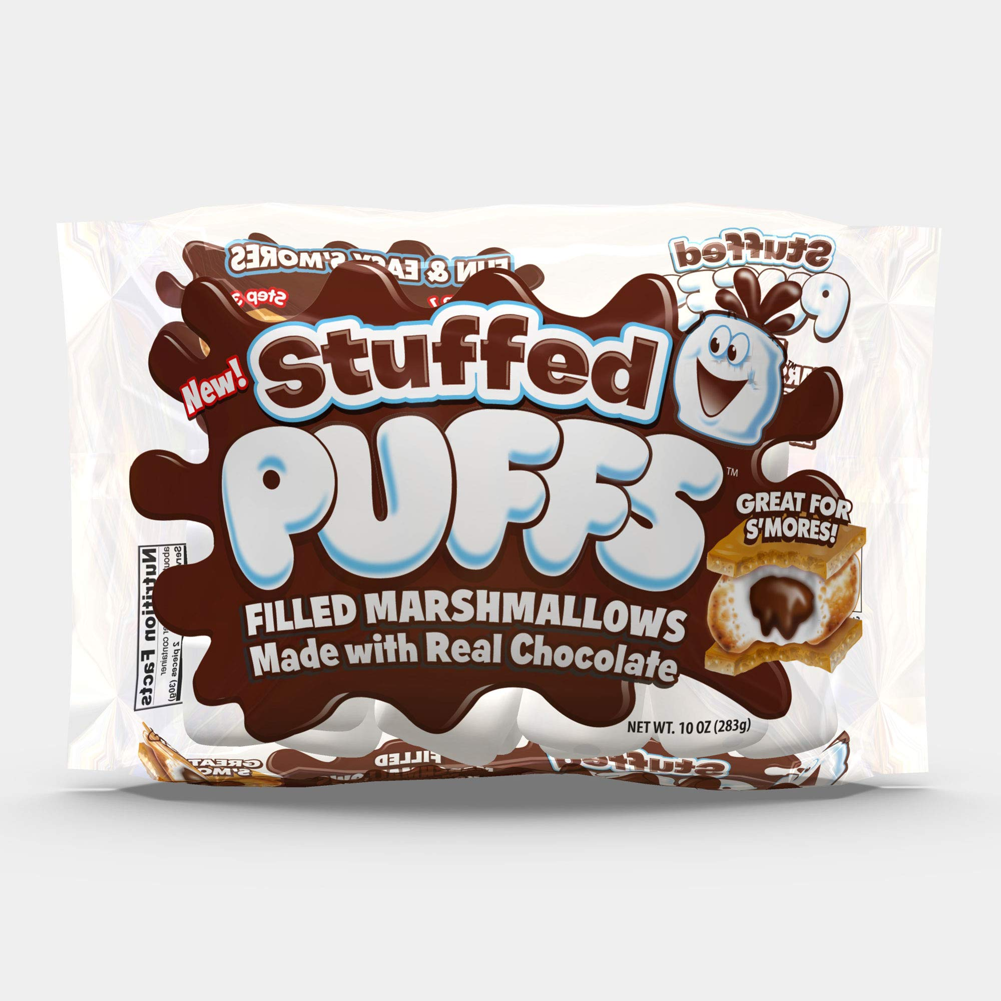 Stuffed Puffs, Chocolate Filled Marshmallows (10 oz bag, Pack of 2) by Stuffed Puffs
