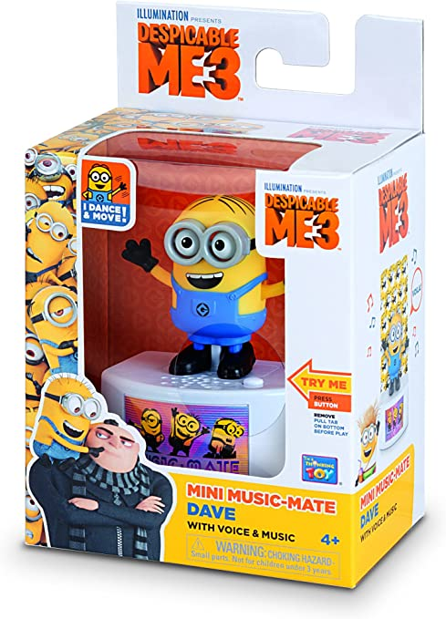 New in box! Despicable Me Music Mate Minion Dave Toy Figure