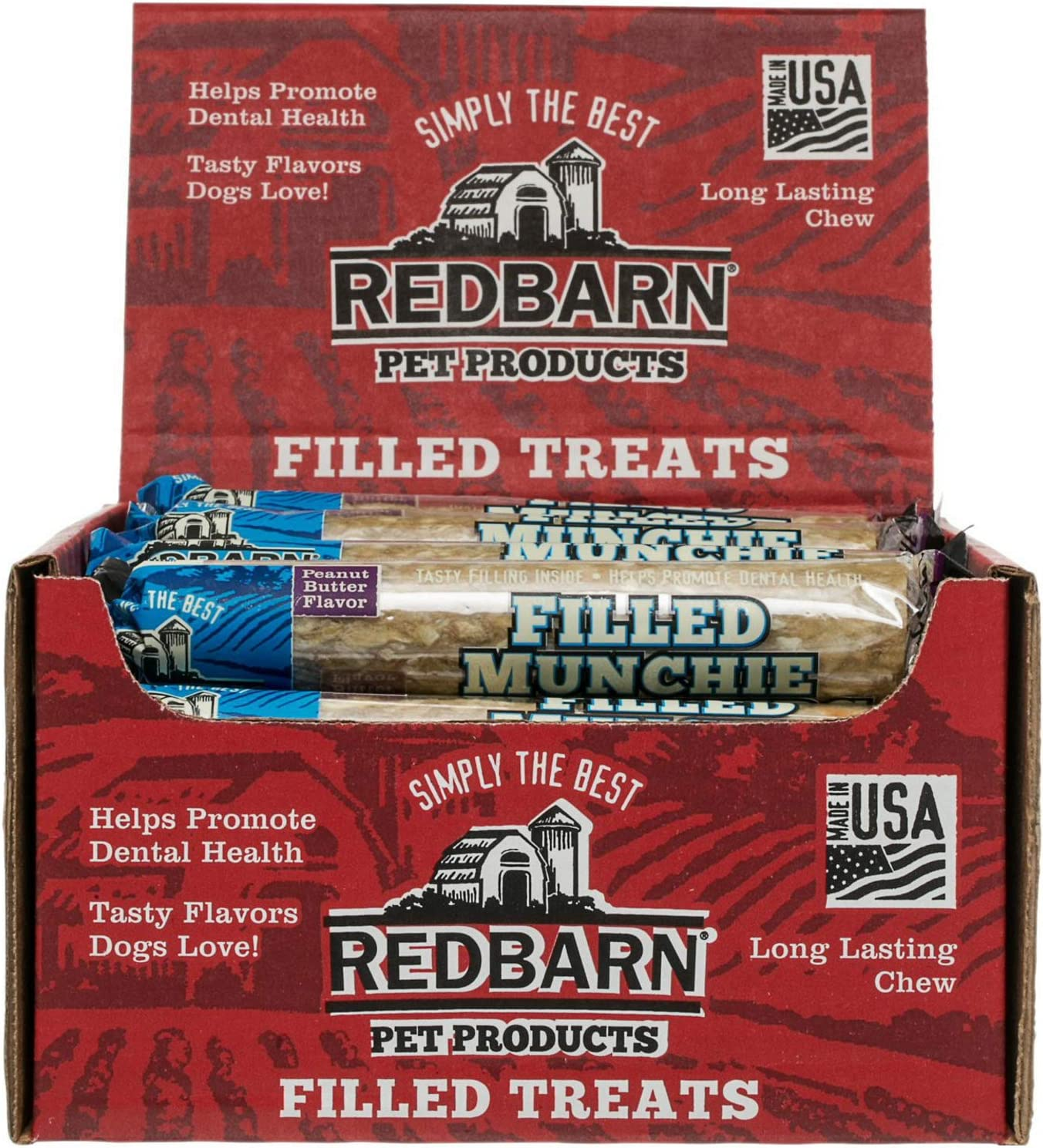 Red Barn Peanut Butter Filled Munchie Retrievers 24ct Case