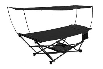 bliss hammocks stow ez hammock  u0026 collapsible stand w  pillow  u0026 canopy w  magazine amazon     bliss hammocks stow ez hammock  u0026 collapsible stand w      rh   amazon