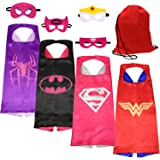 SPESS Costumes Dress Up Clothes 4pcs Girl Capes and Masks with Red Bag