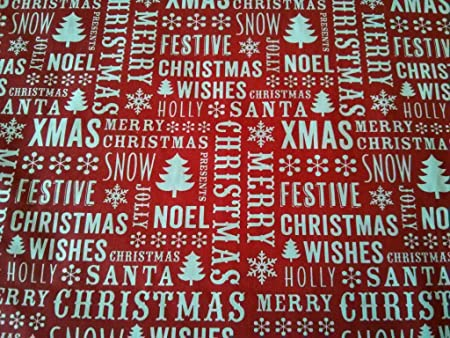 Christmas Jumper Pale Blue Poly Cotton Polycotton for Xmas Craft PER METRE