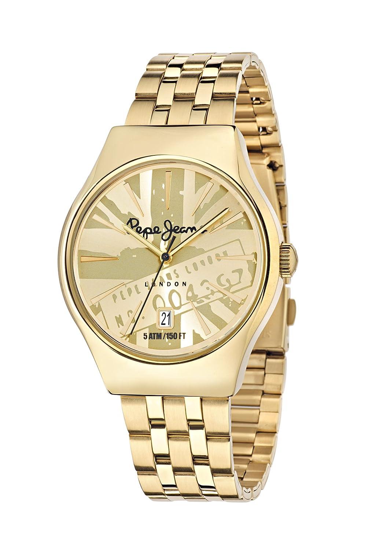 Pepe Jeans Herren Uhrenbeweger Collection JOEY Edelstahl gold R2353113002