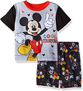 f74120988f19 Amazon.com  Disney Toddler Boys  Mickey Mouse 3-Piece Pajama Set ...