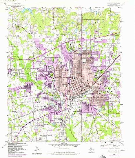 Amazon.com : YellowMaps Texarkana TX topo map, 1:24000 Scale ...
