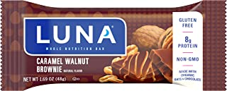 product image for LUNA BAR - Gluten Free Bars - Caramel Walnut Brownie Flavor - (1.69 Ounce Snack Bars, 15 Count)