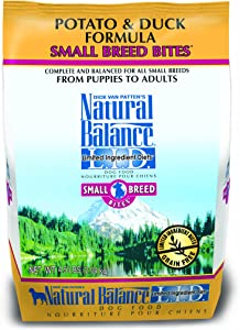 Natural Balance Limited Ingredient Diets Small Breed Bites Dry Dog Food, Grain Free, Potato And Duck Formula, 4.5-Pound