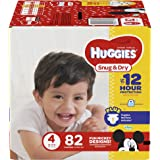 HUGGIES Snug & Dry Diapers, Size 4, 82 Count BIG PACK (Packaging May Vary)
