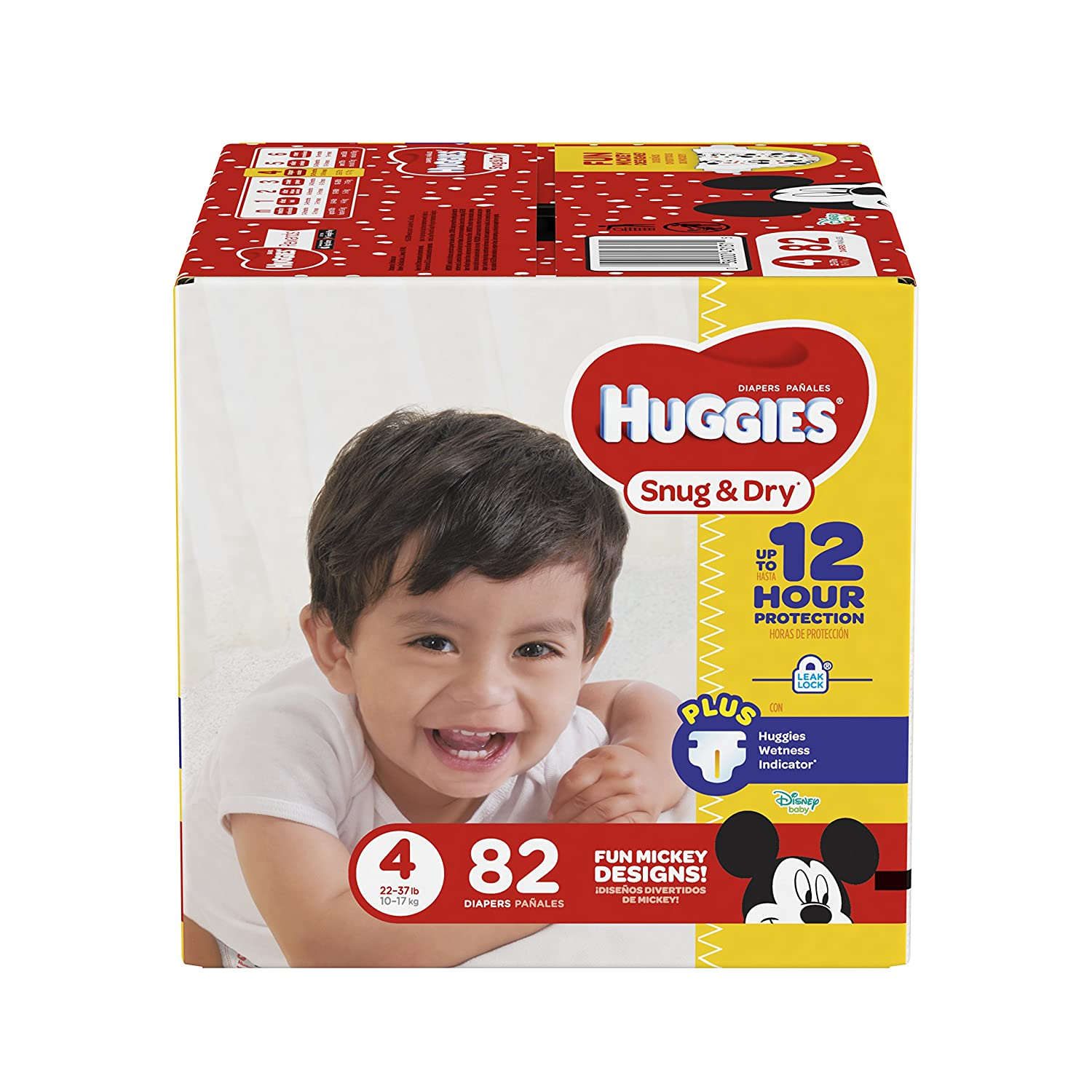 Amazon.com: HUGGIES Snug & Dry Diapers, Size 4, 82 Count BIG PACK (Packaging May Vary): Health & Personal Care