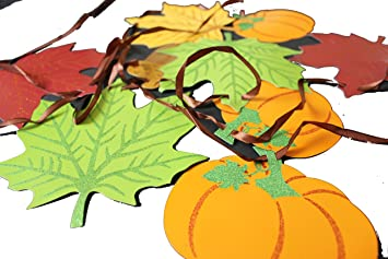 amazon com 12 ft welcome fall banner colors of autumn leaf shaped