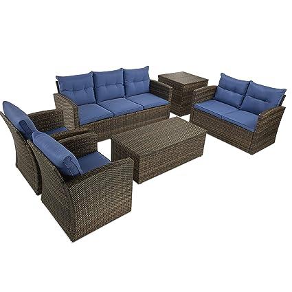 Amazon.com: Amposei Juego de 6 piezas de sofá seccional para ...