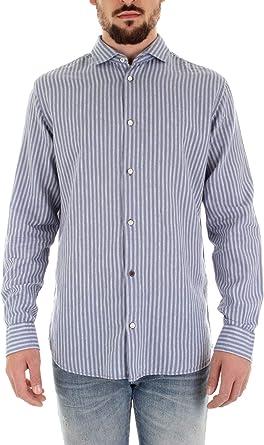JACK & JONES Camisa de Hombre a Rayas BLU Celeste L: Amazon.es: Ropa y accesorios
