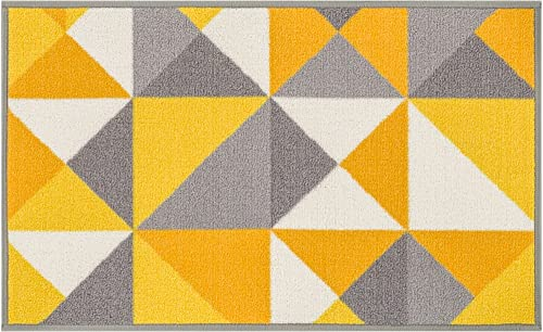 Well Woven Kings Court Vector Modern Yellow Geometric 2 x 3 Mat Accent Indoor Outdoor Rug