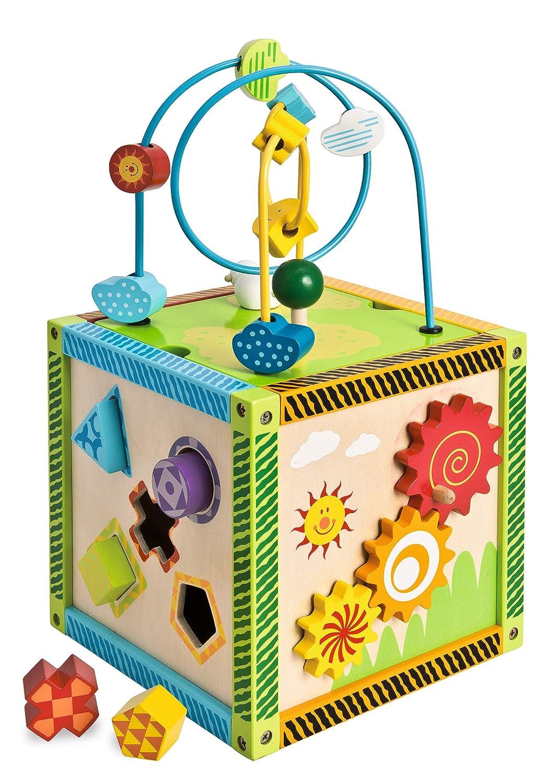 Smoby Eichhorn 100002235 - Cubo de Juegos en Madera (20 x 20 x 36 cm)